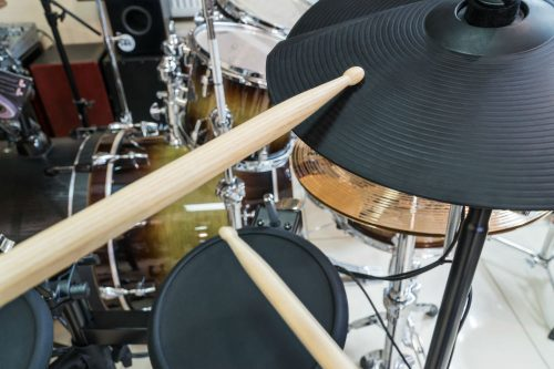 electronic drum set and drumstick